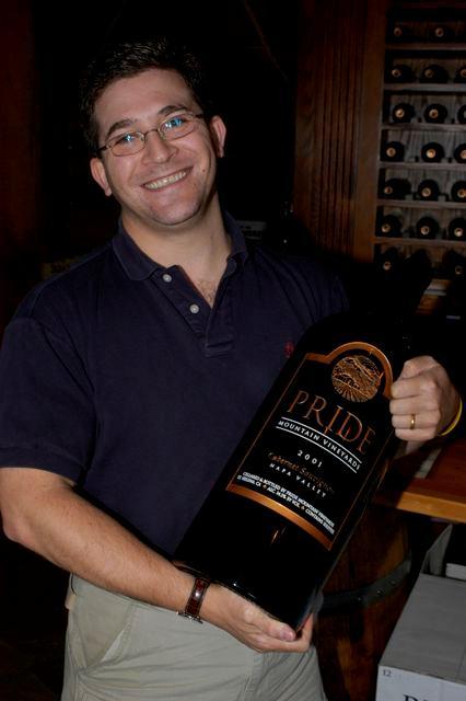 Eric LeVine at Pride Mountain Vineyards