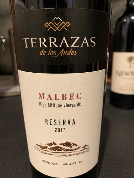 2017 Terrazas De Los Andes Malbec High Altitude Vineyards