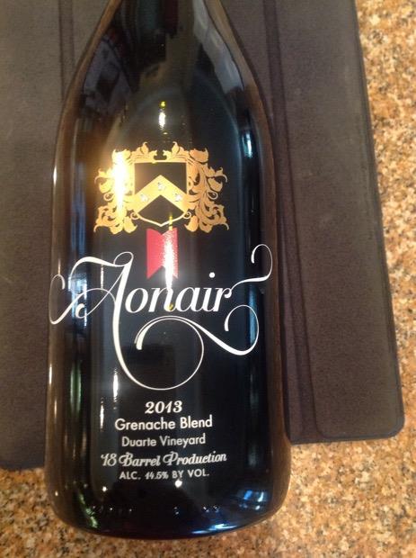 2008 Aonair Wines Grenache Blend Duarte Vineyard, USA