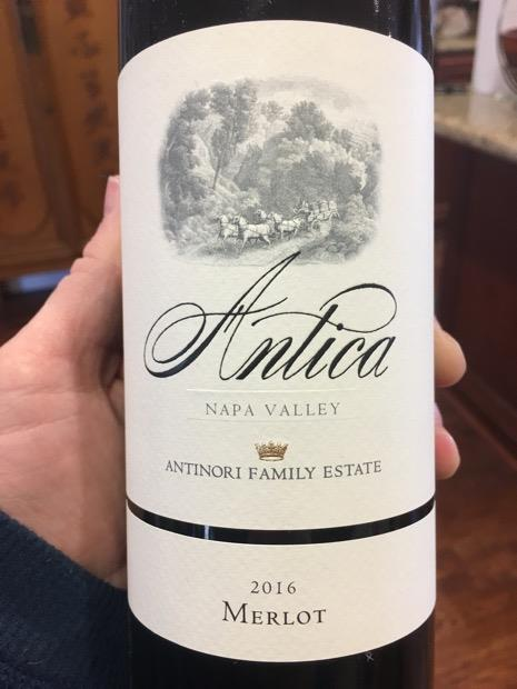 2016 Antica (Antinori) Merlot, USA, California, Napa Valley, Atlas ...