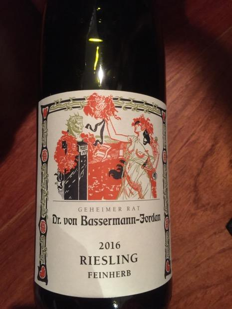 online retailer newest collection buy sale 2016 Dr. von Bassermann-Jordan Riesling Kabinett feinherb ...