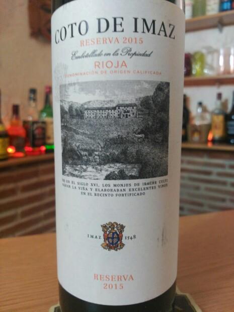 2015 Bodegas El Coto Rioja Coto De Imaz Reserva Spain La Rioja Rioja Cellartracker