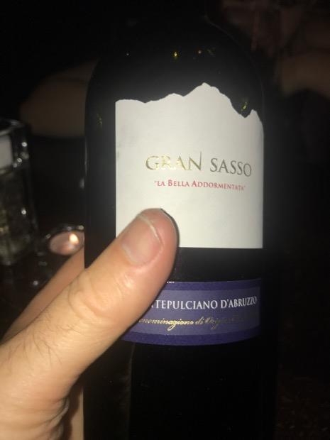 2014 Gran Sasso Montepulciano d'Abruzzo La Bella ...