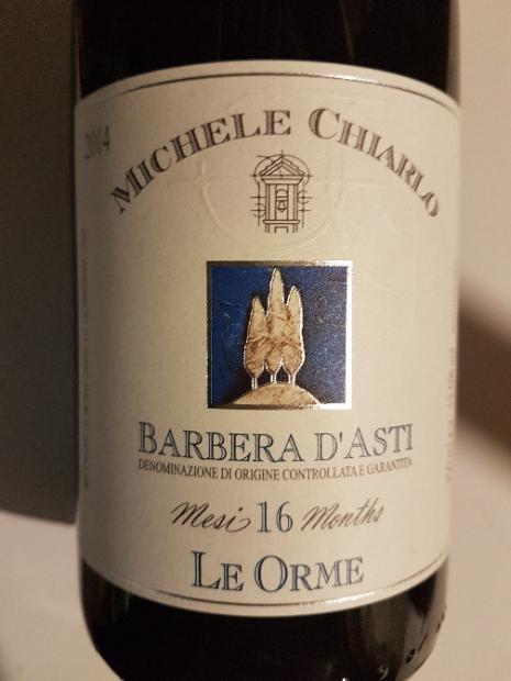 2015 Michele Chiarlo Barbera d'Asti Superiore Le Orme, Italy ...