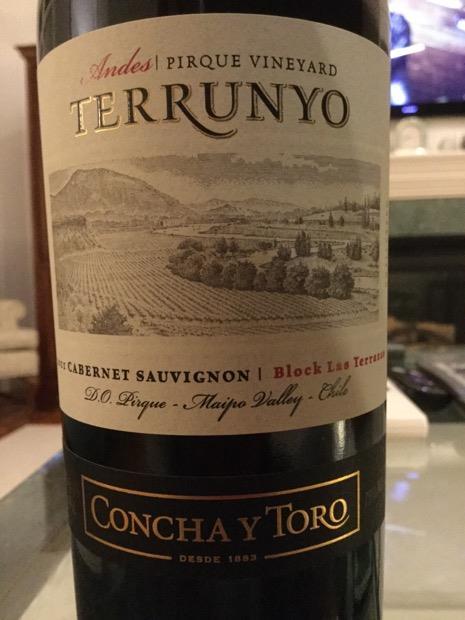 2016 Concha Y Toro Cabernet Sauvignon Terrunyo Block Las