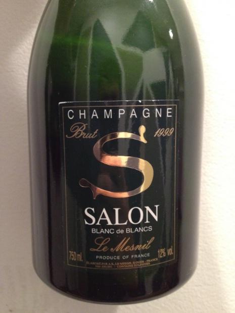 1999 Salon Champagne Blanc de Blancs Brut, France, Champagne ...