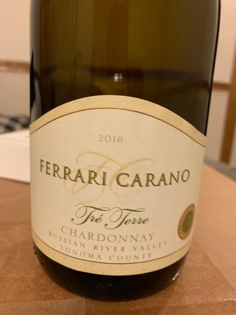 2016 Ferrari Carano Chardonnay Tre Terre Usa California Sonoma County Russian River Valley Cellartracker