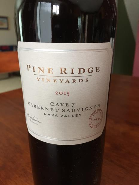 2015 Pine Ridge Vineyards Cabernet Sauvignon Cave 7, USA ...