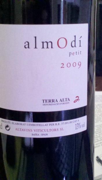 2010 Altavins Viticultors Terra Alta Almodi Petit Spain Catalunya Tarragona Terra Alta Cellartracker