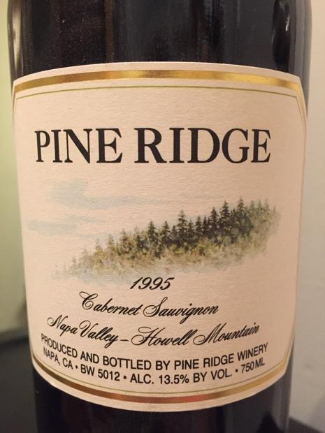 1995 Pine Ridge Vineyards Cabernet Sauvignon Howell ...