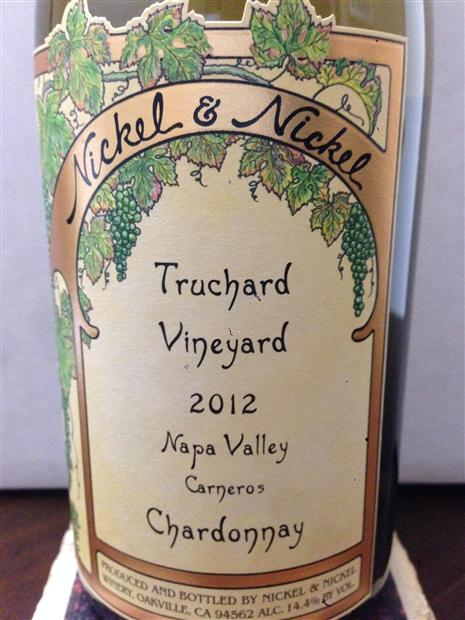 2012 Nickel Nickel Chardonnay Truchard Vineyard Usa California Napa Sonoma Carneros Cellartracker