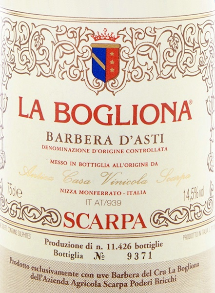 2007 Scarpa Barbera D Asti Superiore La Bogliona Italy Piedmont Asti Barbera D Asti Superiore Cellartracker