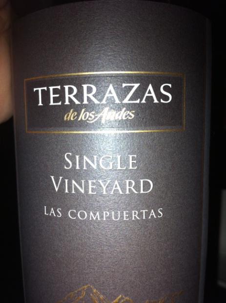 2008 Terrazas De Los Andes Malbec Single Vineyard Las
