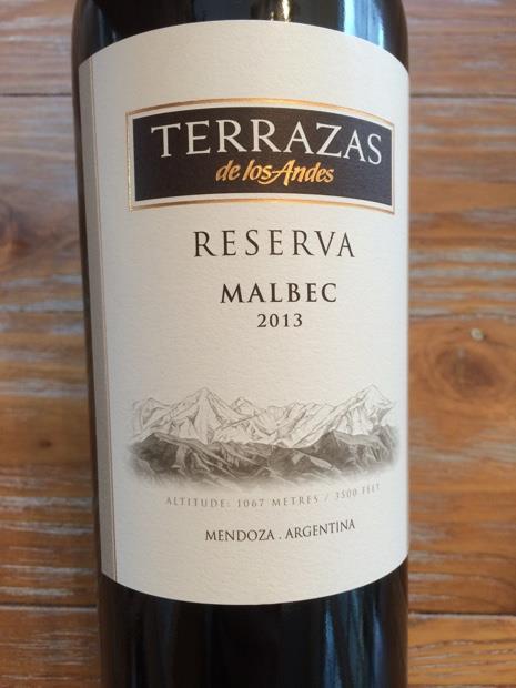2013 Terrazas De Los Andes Malbec Reserva Argentina