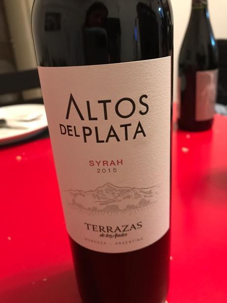 2014 Terrazas De Los Andes Syrah Altos Del Plata Argentina