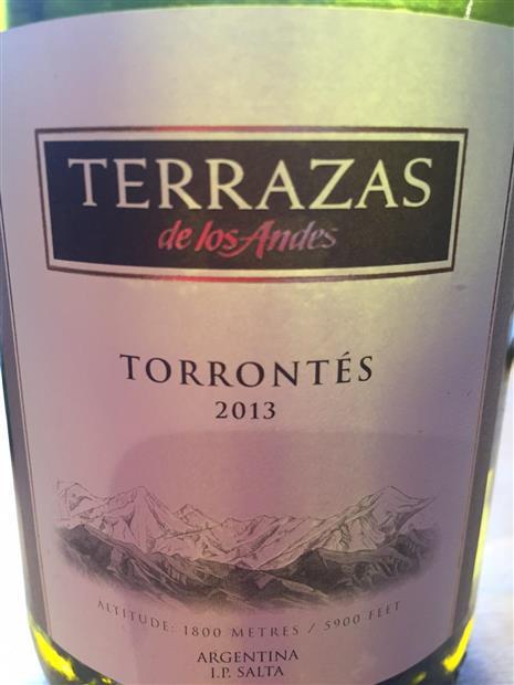 2012 Terrazas De Los Andes Torrontés Selection Argentina