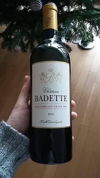 2016 Château Badette, France, Bordeaux, Libournais, St. Émilion ...