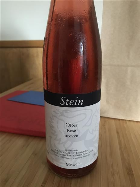 Stein Rose: 2016 Stein Rosé Trocken, Germany, Mosel Saar Ruwer