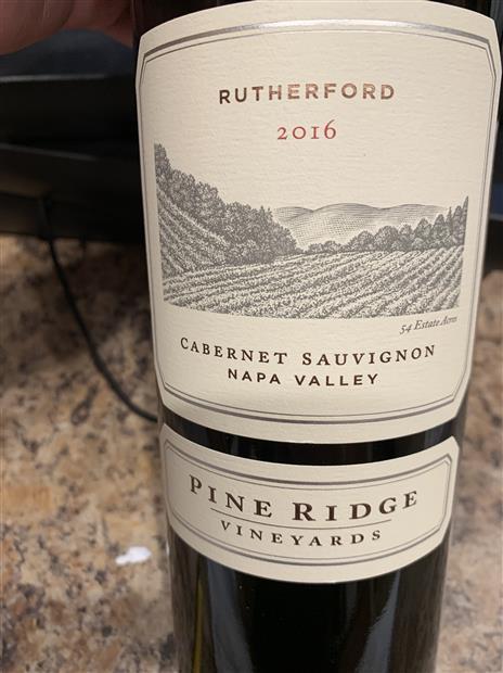 2016 Pine Ridge Vineyards Cabernet Sauvignon Rutherford ...