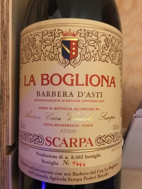 2006 Scarpa Barbera D Asti La Bogliona Italy Piedmont Asti Barbera D Asti Cellartracker
