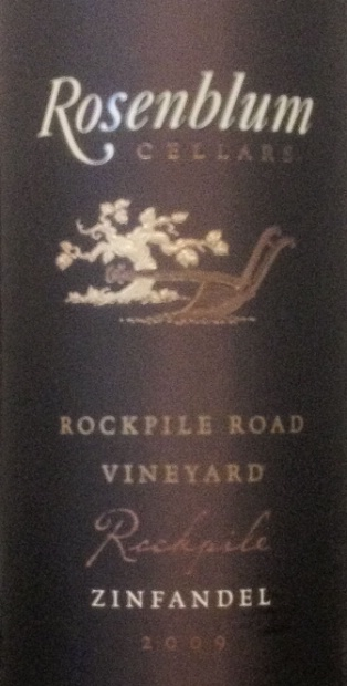 2009 Rosenblum Cellars Zinfandel Rockpile Road Vineyard