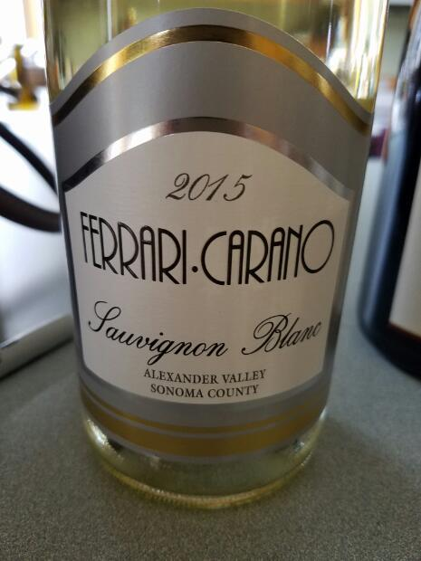 2015 Ferrari Carano Sauvignon Blanc Usa California Sonoma County Cellartracker