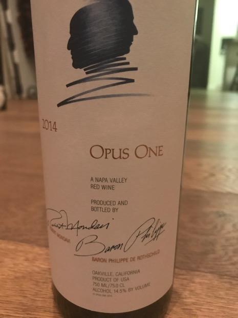2014 Opus One Usa California Napa Valley Cellartracker