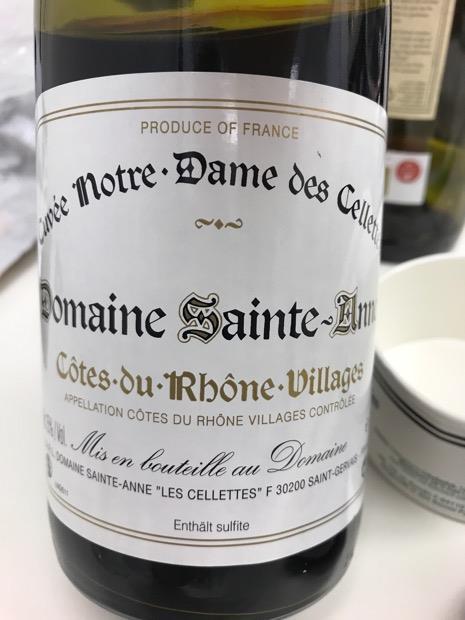 2011 Domaine Sainte-Anne Côtes du Rhône Villages Cuvée Notre-Dame ...