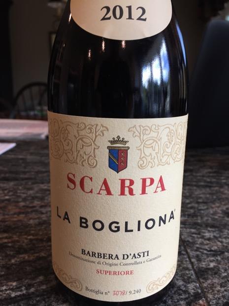 2012 Scarpa Barbera D Asti Superiore La Bogliona Italy Piedmont Asti Barbera D Asti Superiore Cellartracker