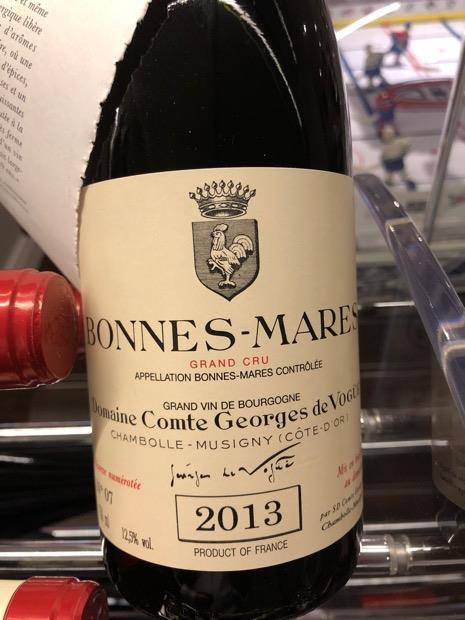 2013 Domaine Comte Georges De Vogue Bonnes Mares France Burgundy