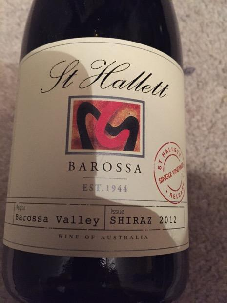 St hallett obst single vineyard shiraz 2020