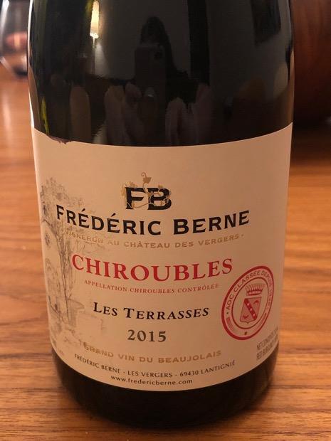 2015 Frédéric Berne Chiroubles Les Terrasses France