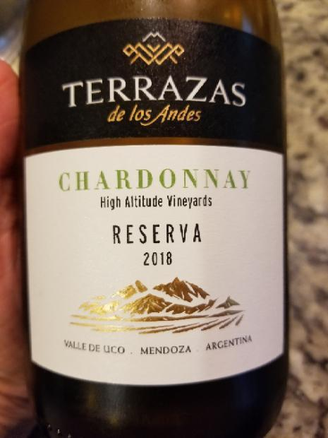 2018 Terrazas De Los Andes Chardonnay Reserva Argentina