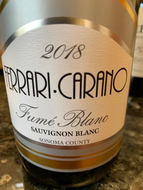 2018 Ferrari Carano Fumé Blanc Sonoma County Usa California Sonoma County Cellartracker