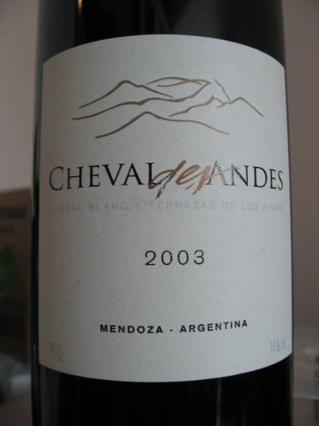 2003 Terrazas De Los Andes Cheval Des Andes Argentina