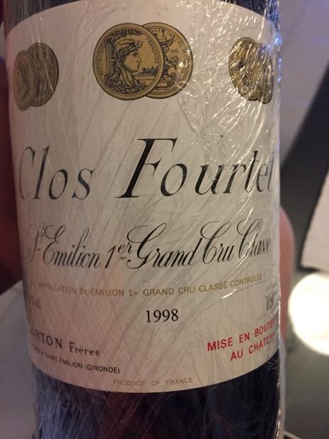 1998 Clos Fourtet, France, Bordeaux, Libournais, St  Émilion