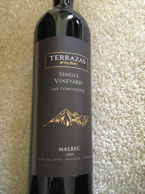 2009 Terrazas De Los Andes Malbec Single Vineyard Las