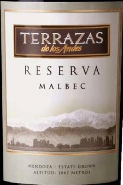 2007 Terrazas De Los Andes Malbec Reserva Argentina
