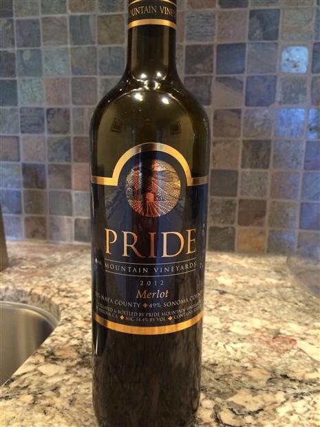2012 Pride Mountain Vineyards Merlot, USA, California, North Coast ...