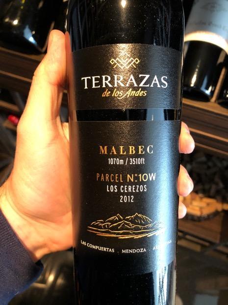 2014 Terrazas De Los Andes Malbec Single Parcel Los Cerezos