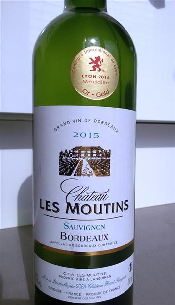 2015 Château Les Moutins, France, Bordeaux - CellarTracker