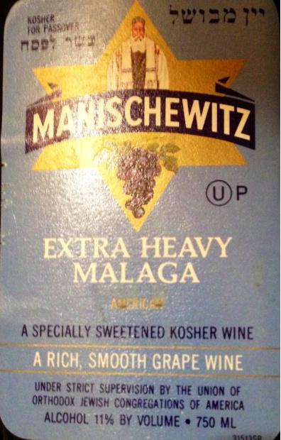 Nv Manischewitz Extra Heavy Malaga Specially Sweetened Kosher Wine Usa New York Cellartracker