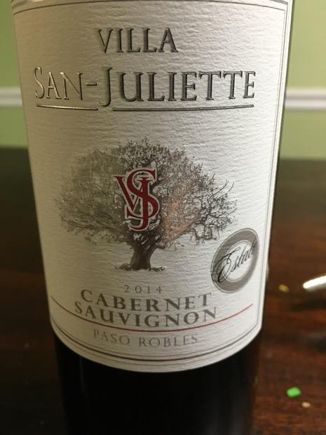 2014 Villa San-Juliette Cabernet Sauvignon, USA, California, Central Coast, Paso Robles - CellarTracker