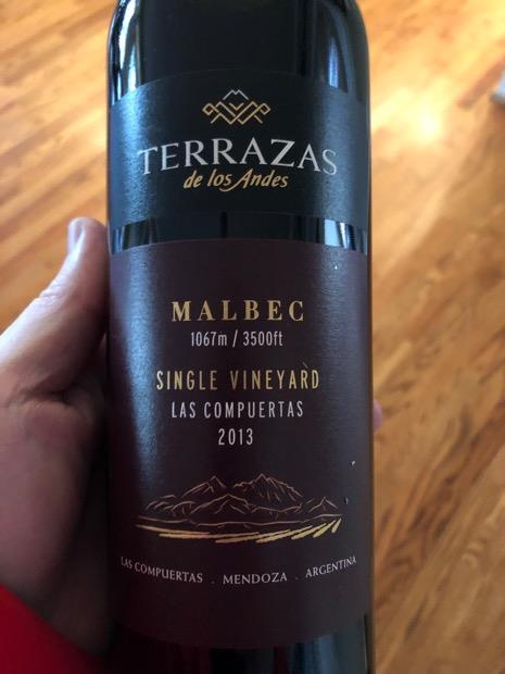 2013 Terrazas De Los Andes Malbec Single Vineyard Las
