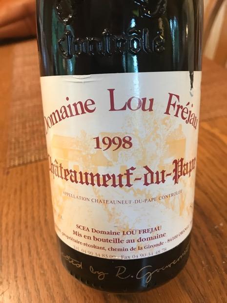 Community Tasting Note - 1998 Domaine Lou Frejau Châteauneuf-du ...