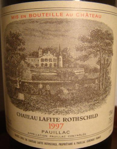 1997 Château Lafite Rothschild, France, Bordeaux, Médoc