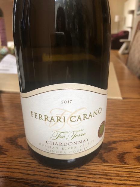2017 Ferrari Carano Chardonnay Tre Terre Usa California Sonoma County Alexander Valley Cellartracker