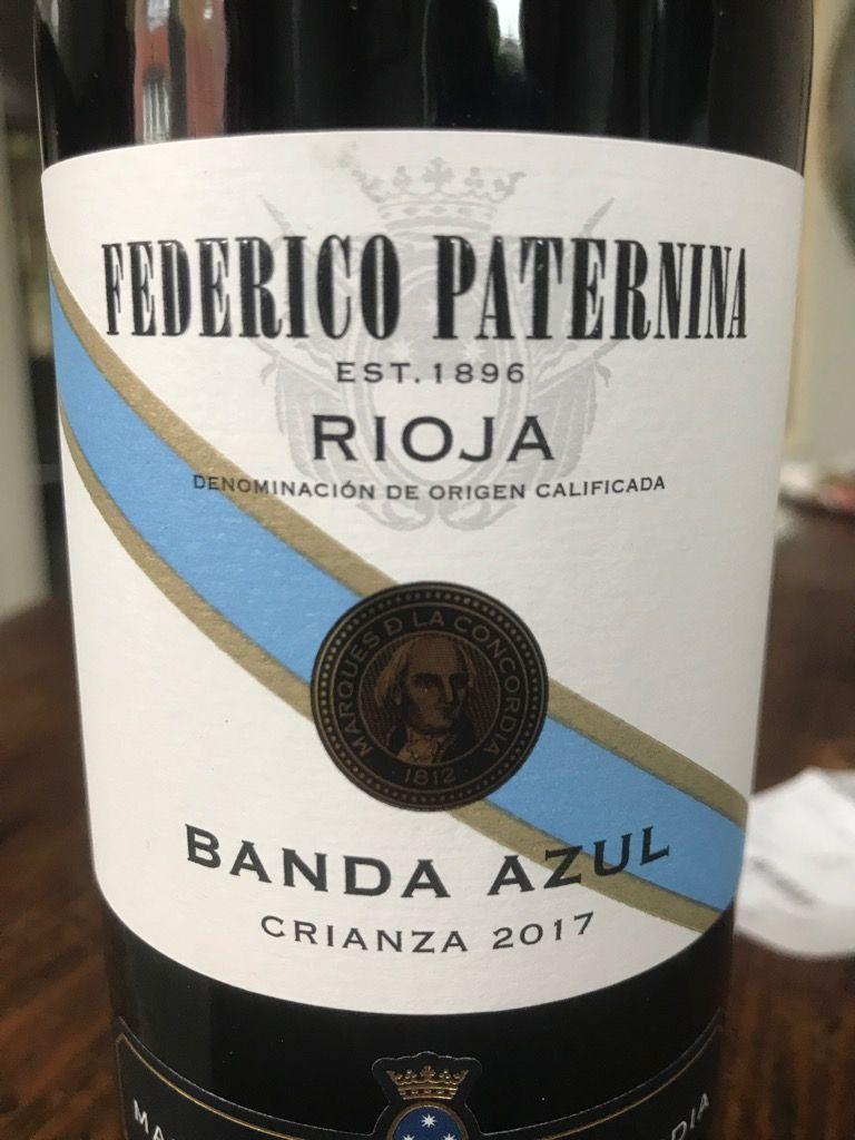 2017 Federico Paternina Rioja Paternina Banda Azul Crianza Spain La Rioja La Rioja Alta Rioja Cellartracker