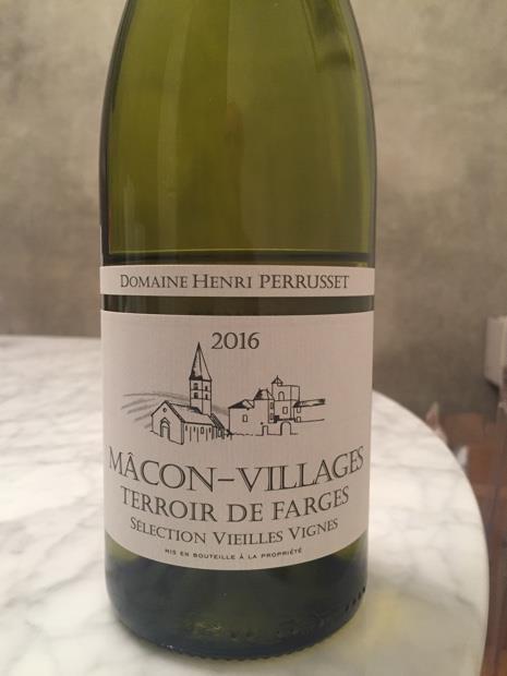 Perrusset Villages Macon 2016 Domaine Mâcon Farges Henri K1c3ulJFT