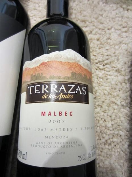 2007 Terrazas De Los Andes Malbec Argentina Mendoza